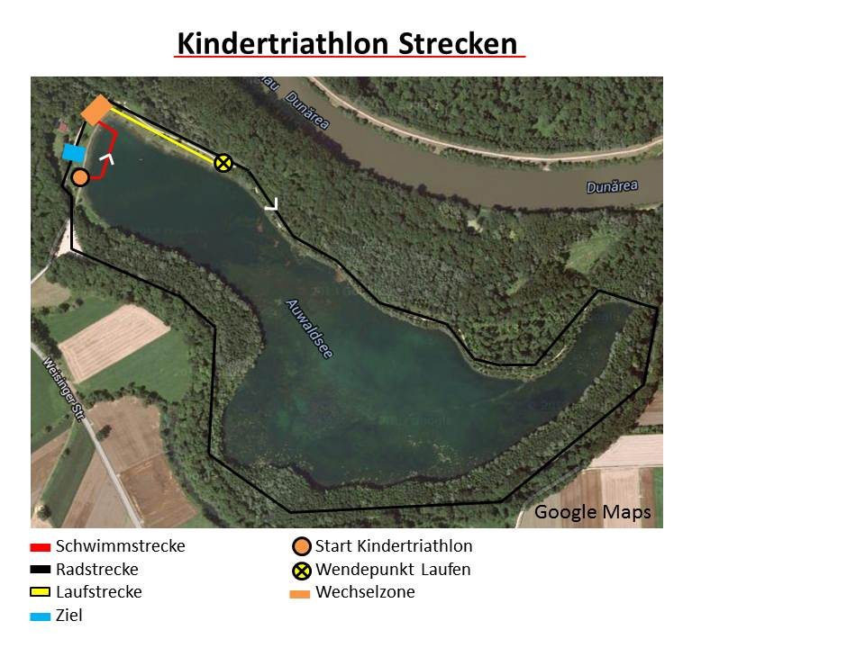 Strecken Kindertriathlon 2015