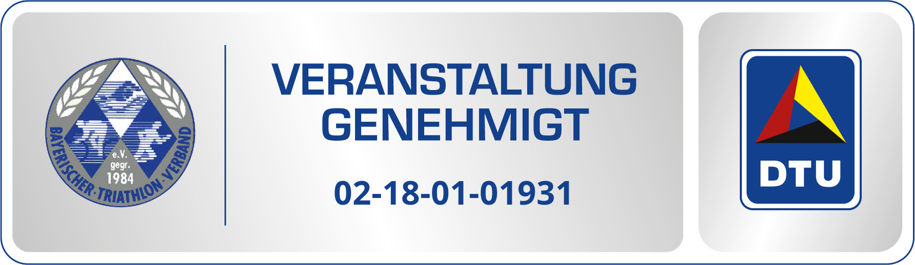 Genehmigungssiegel 02 18 01 01931 Lauingen - Ausschreibung